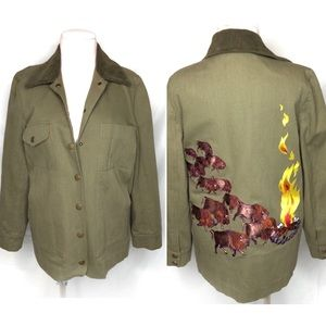 Built by wendy campfire buffalo embroider green